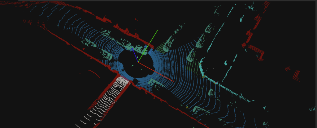 Lidar point cloud used for Deepen annotation process.