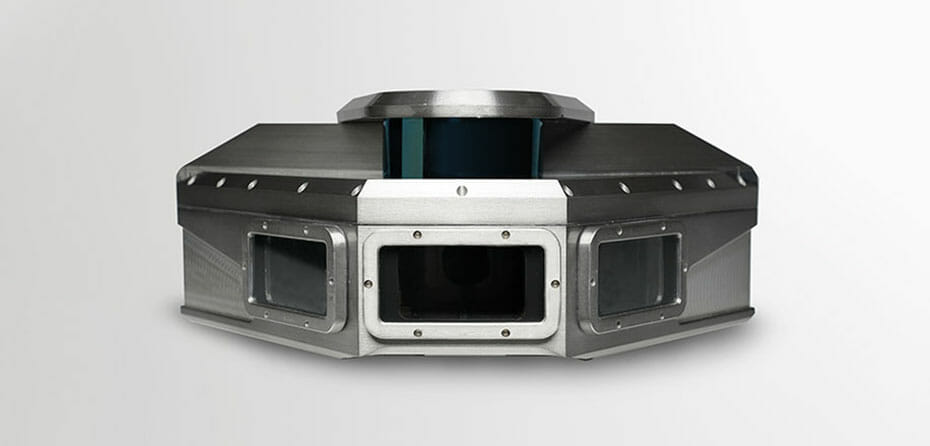 Product shot of Vision IQ, developed by The Marsden Group, equipped with a Velodyne Puck sensor