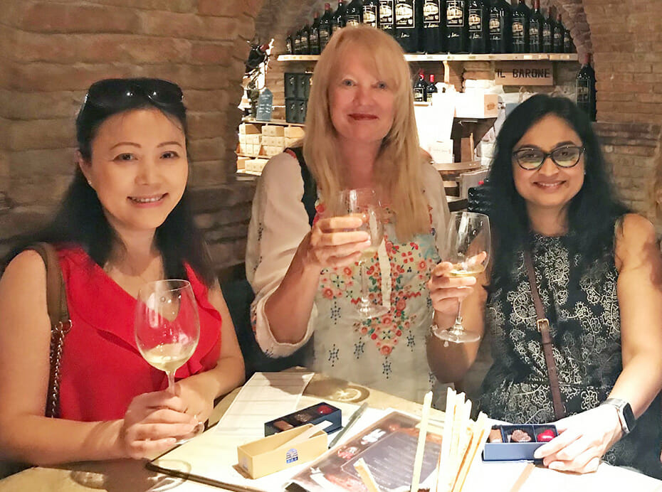 A few of Velodyne's women leaders, pictured left to right: Michelle Esau, VP Finance and Controller, Marta Hall, CMO, and Sheetal Patel, VP HR