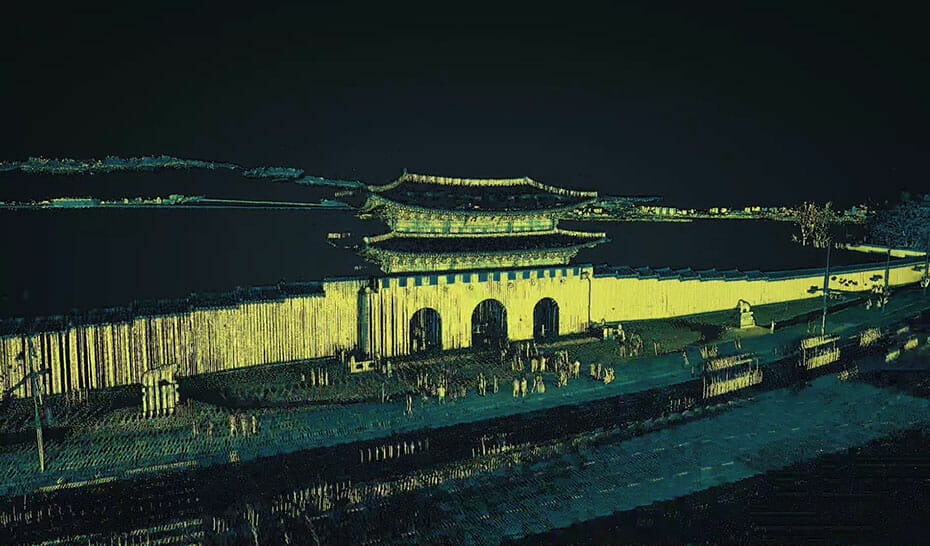3D data for high-precision maps by MOBILTECH | Point Cloud of a major road in Seoul, South Korea