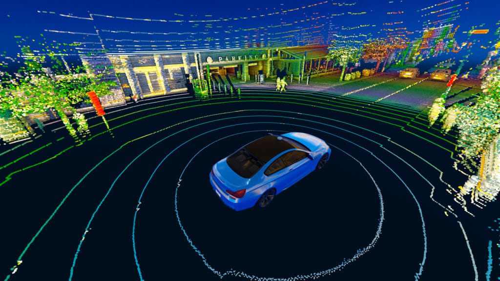 Velodyne's lidar technology providing real-time 3D vision for autonomous systems.