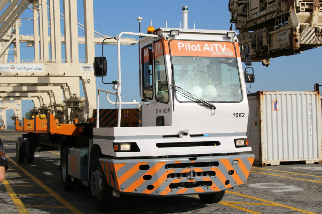 DGWorld's AITV at DP World's Jebel Ali Port, powered by Velodyne lidar, used for port terminal automation
