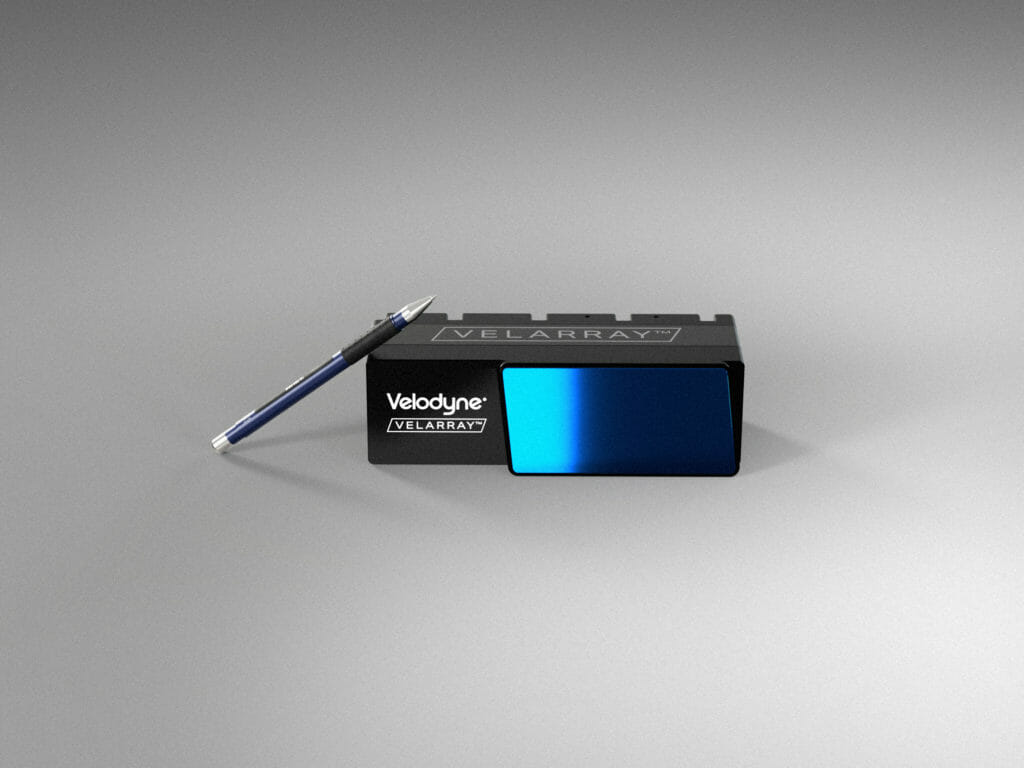 Velodyne Lidar's Velarray H800 solid state lidar sensor is designed for safe navigation and collision avoidance in ADAS and autonomous mobility applications.
