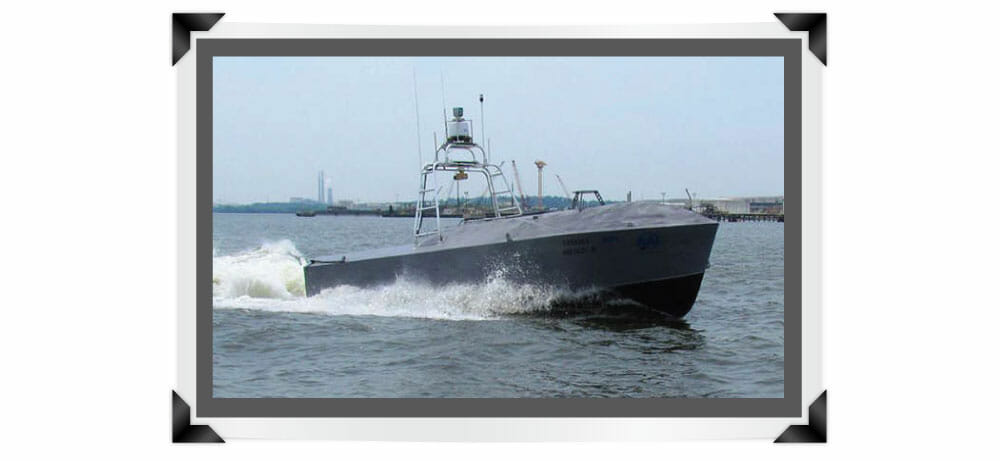 """HDL-64E lidar sensor providing the """"eyes"""" for the Common Unmanned Surface Vessel developed by Textron and its partners for the U.S. Navy"""
