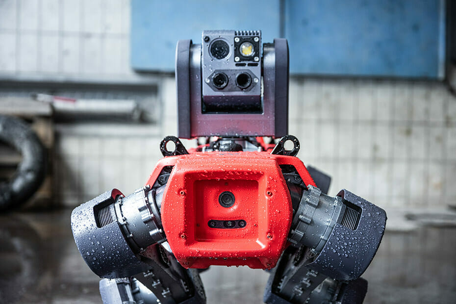 The waterproof ANYmal autonomous robot can navigate harsh terrains and conditions